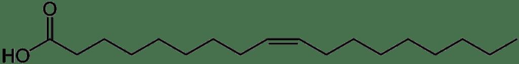 Fórmula del ácido oleico