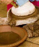 Molino de piedra utilizado para la extracción del aceite de argan