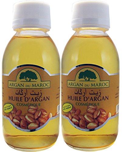 Set de dos botellas de Aceite puro Argan .100% puro,2 botellas de vidrio de 125 ml cada una. Calidad premium. Origen Marruecos, Envío rápido desde España.
