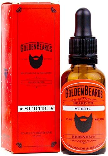 Aceite Orgánico para cuidar tu Barba. El mejor Aceite de Argán, Jojoba y Albaricoque para tu barba. - SURTIC - 30ml Golden Beards 100% Orgánico |