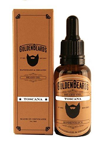 Aceite Orgánico para Barba 100% Orgánico. El mejor Aceite de Argán y Jojoba para tu barba. - TOSCANA - 30ml Golden Beards