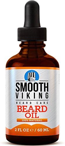 Aceite para el cuidado de la barba. Alivia el picor y favorece el crecimiento de la barba. Contiene aceite de Argán, aceite de Jojoba, vitamina E - Smooth Viking-59ml-