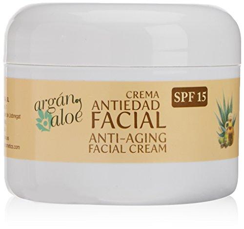 Argan-Aloe 70080 - Crema facial antiedad con aloe y argán, 100 ml