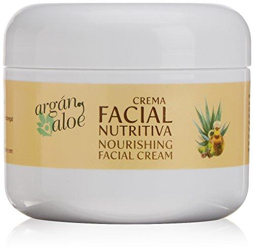Argan-Aloe 70100 - Crema facial nutritiva con aloe y argán, 100 ml