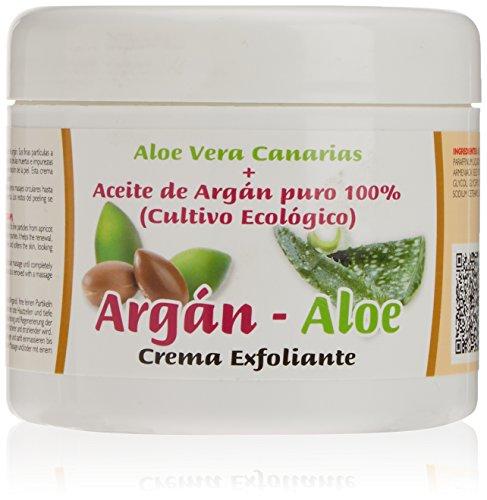 Argan-Aloe 70250 - Crema exfoliante corporal con aloe y argán, 500 ml