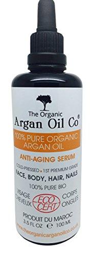 Aceite de Argán Virgen BIO para la barba, perilla y bigote - Aceite de prensado en frío 100% Puro - Certificado Ecológico ECOCERT - 100ml