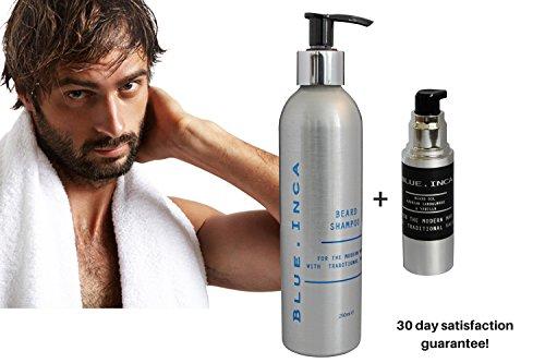 Champú acondicionador para la barba y el vigote con aceite de Argán, Exotic Arabian sándalo y vainilla.
