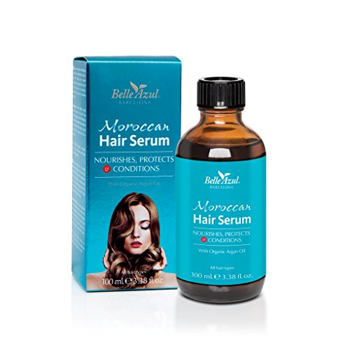 Serum Con Aceite De Argán Orgánico que protege, nutre y acondiciona nuestro pelo. Apto para todo tipo de cabello-100ml-Belle Azul Moroccan Hair Serum-