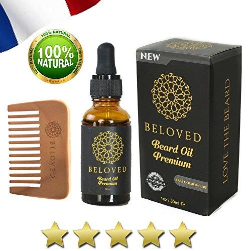 Hidratante para la barba100% natural con aceite de Argán, algodón orgánico, vitamina e, aceite de Aloe Vera, aceite de Manzanilla, aceite de Jojoba. -BELOVED® ALTA CALIDAD-