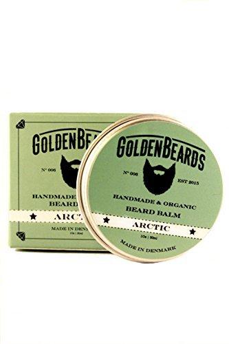 Bálsamo Orgánico para Barba con Aceite de Argán, Jojoba y Albaricoque, hidrata tu barba y vigote. 100% Orgánico y Natural .- Arctic - 30ml
