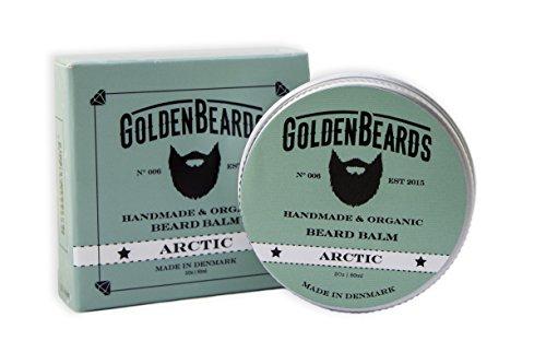 Bálsamo Orgánico para Barba con Aceite de Argán, Jojoba y Albaricoque, hidrata tu barba y vigote. 100% Orgánico y Natural .- Arctic - 60ml