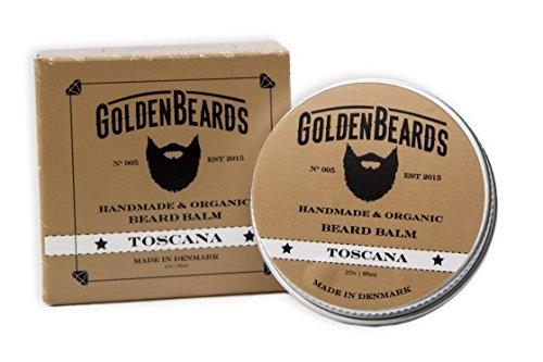 Bálsamo Orgánico de aceite de Argán, aceite de Jojoba y albaricoque, para hidratar la barba. 60ml - 100% natural-Golden barbas-