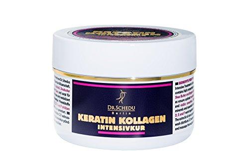 Berlin de queratina y colágeno ideal para un tratamiento intensivo para cuidar de tu cabello. Contiene aceite de Argán y de Jojoba, Sin silicona añadida-Dr. Schedu-