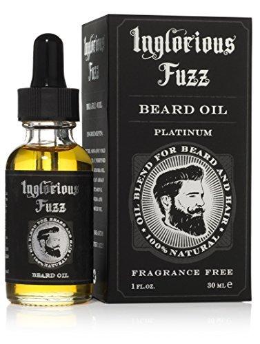Aceite revitalizante para el cabello de la barba y vigote, obtenido del aceite de Argán, Jojoba, Manzanilla, vitamina E y Aloe Vera, sin perfume -Inglorious Fuzz -