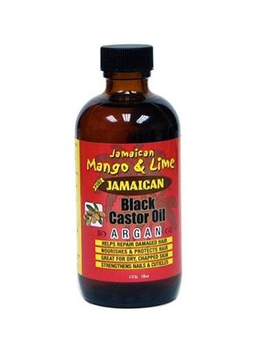 Mezcla de varios productos naturales como MANGO DE JAMAICA & LIMA NEGRO ACEITE DE RICINO CON ACEITE DE ARGÁN para cuidar de tu pelo