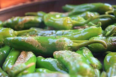 Receta árabe de ensalada de piminetos verdes