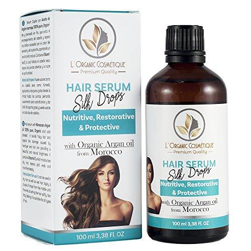 Serum para el pelo con aceite de Argán orgánico originario de Marruecos, aceite puro de Jojoba y Germen de Trigo . Protege, suaviza, nutre y acondiciona tu cabello. Anti-encrespamiento. Tacto no graso. -100 ml-