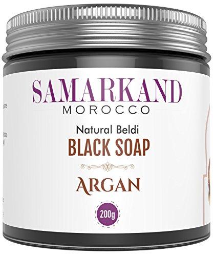 Jabón Negro Marroquí con Aceite de Argán 100% Natural Beldi - El Original de Marruecos 200 mg