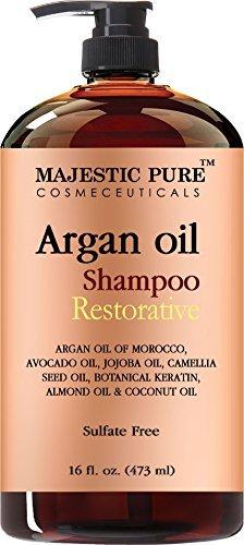 Majestic - Majestic puro aceite de argán Champú Fórmula enriquecida con vitaminas Suave Hair Restoration marroquí Petróleo y potentes ingredientes naturales, 16 Fl. Onz