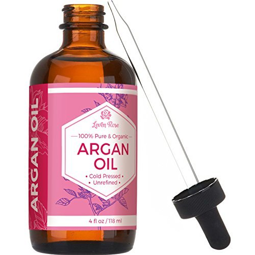#1 TRUSTED Leven Rose Virgin Argan Oil - Pure Cold Pressed, 100% Organic for Hair Growth, Skin Serum, Face, Nails, Eczema, Acne - Best Moroccan Argan - Natural Moisturizer Lotion for Dry Skincare Cleanser - 4 Oz by Leven Rose