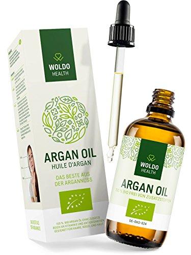 WoldoHealth 100% Aceite de Argán orgánico puro de Marruecos las uñas la piel el pelo para la cara 100ml