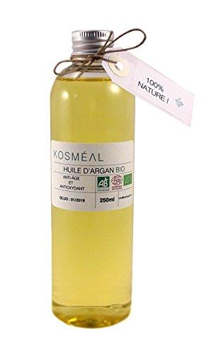 Aceite de Argán Bio–certificado agricultura orgánico AB y ECOCERT–250ml