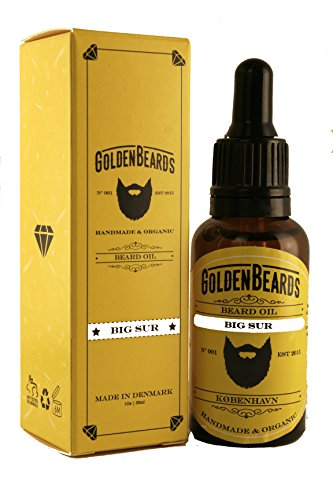 Golden Beards - Aceite de Argan y Jojoba Hidratante Orgánico para barba y piel Big Sur 1 Unidad (1 x 30ml)